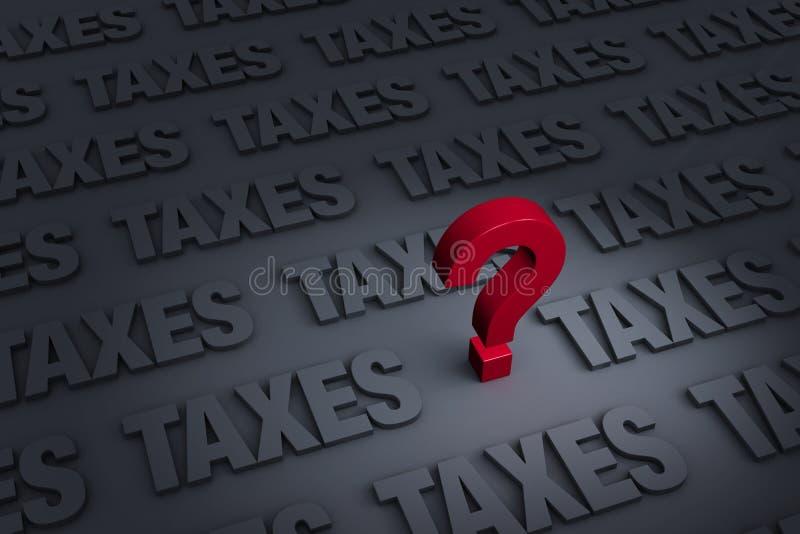 Het ongerust maken zich over Belastingen stock illustratie
