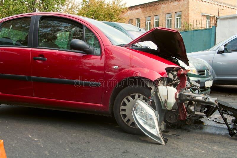 Het Ongeval van de auto royalty-vrije stock afbeelding