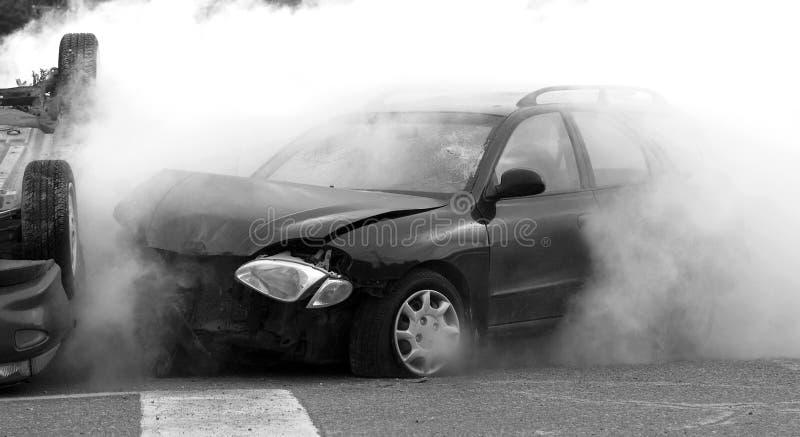 Het ongeval van de auto. royalty-vrije stock afbeelding