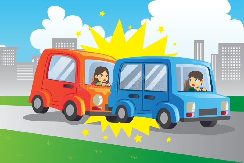 Het ongeval van de auto royalty-vrije illustratie
