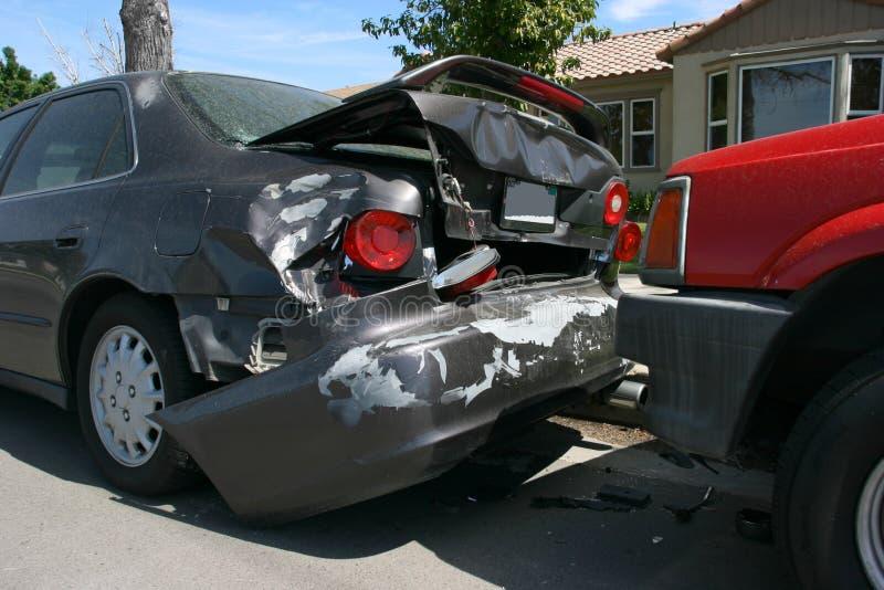 Het ongeval van de auto stock afbeeldingen