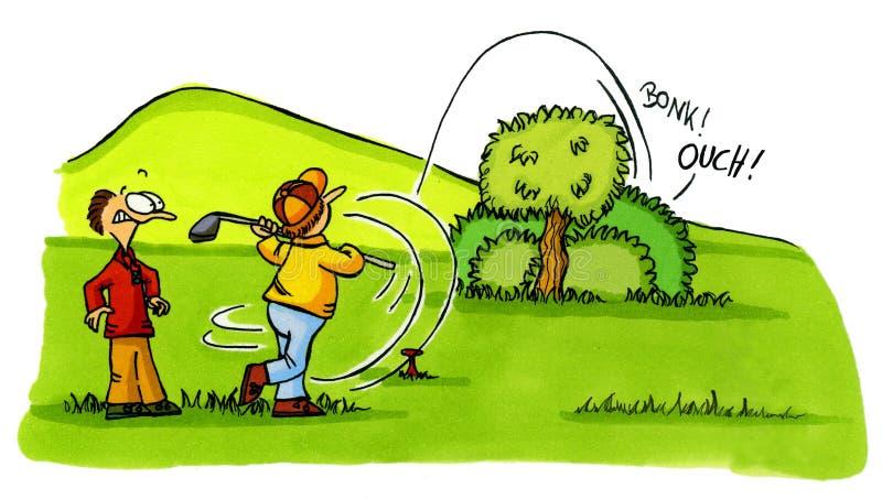 Het ongeval van de golfspeler - de Reeks Nummer 2 van de Beeldverhalen van het Golf stock fotografie