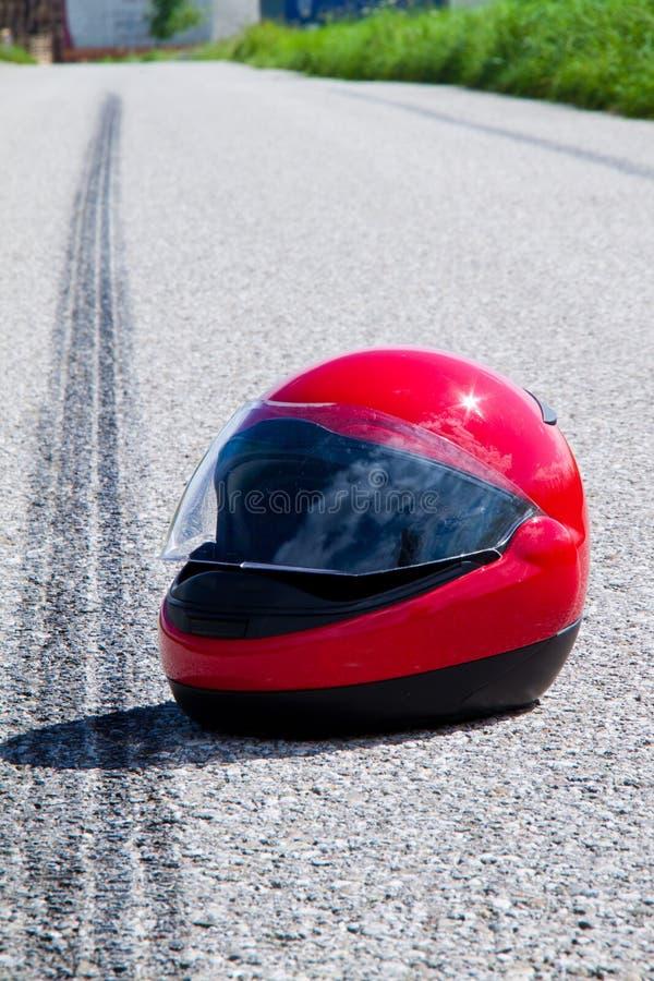 Het ongeval van de motorfiets. Het ongeval van het verkeer royalty-vrije stock foto