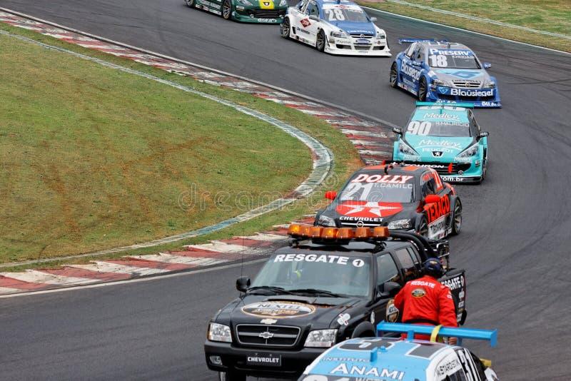 Het Ongeval van de Raceauto van Starostik stock afbeeldingen