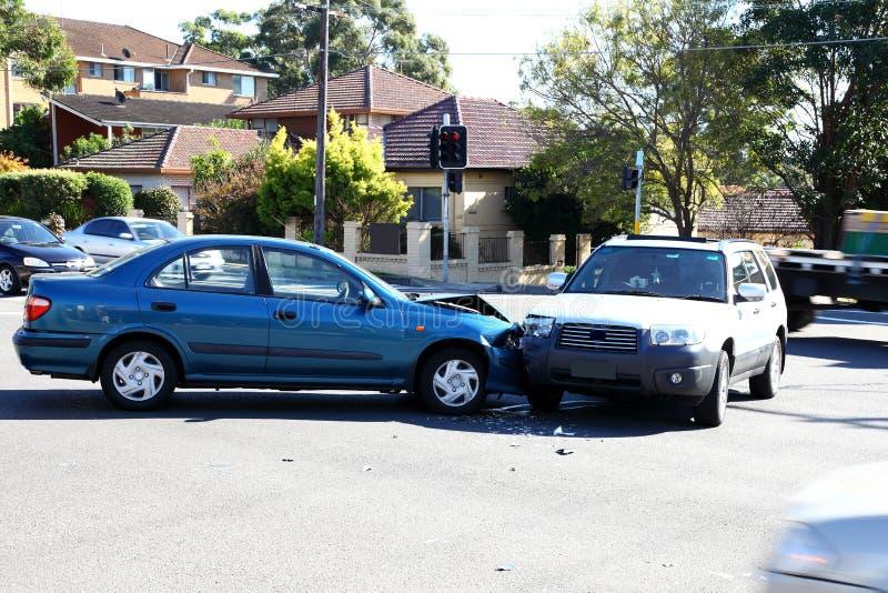 Het ongeval van het verkeer stock afbeelding