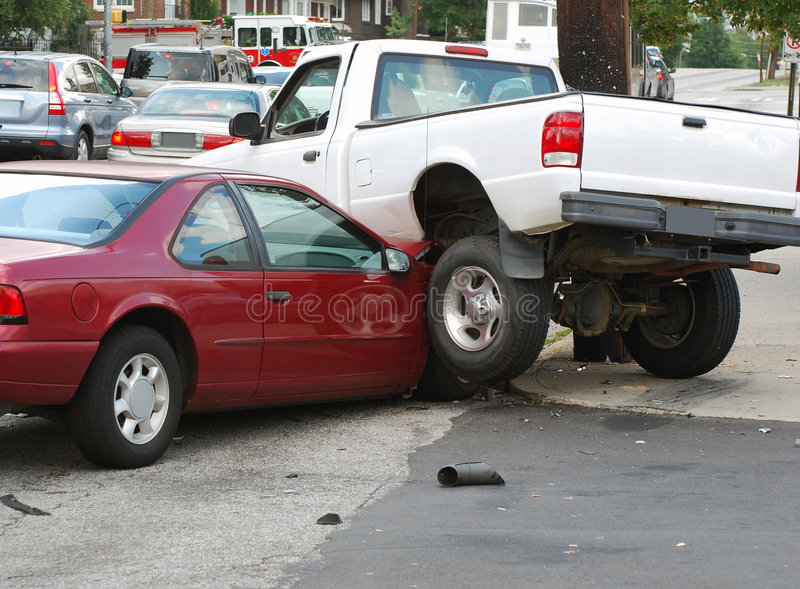Het Ongeval van het verkeer stock foto