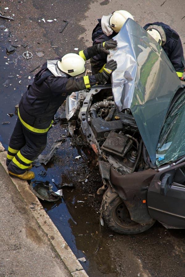 Het ongeval van het verkeer royalty-vrije stock afbeeldingen