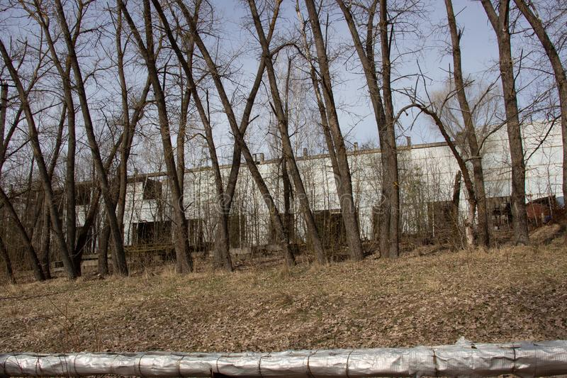 Het ongeval van Tchernobyl Het leven na een kernramp stock afbeeldingen