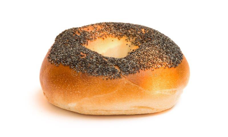 Het ongezuurde broodje van het papaverzaad stock foto