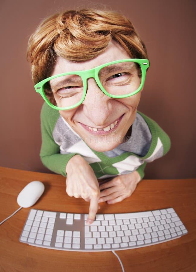 Het online babbelen stock foto's