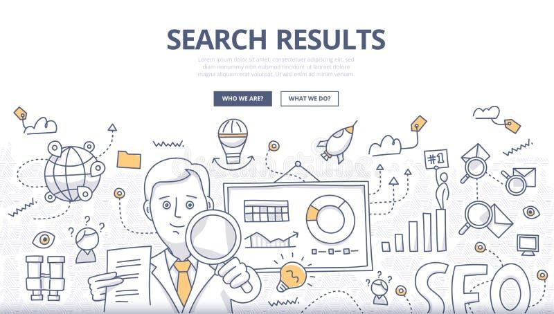 Het online Concept van de Onderzoekskrabbel vector illustratie