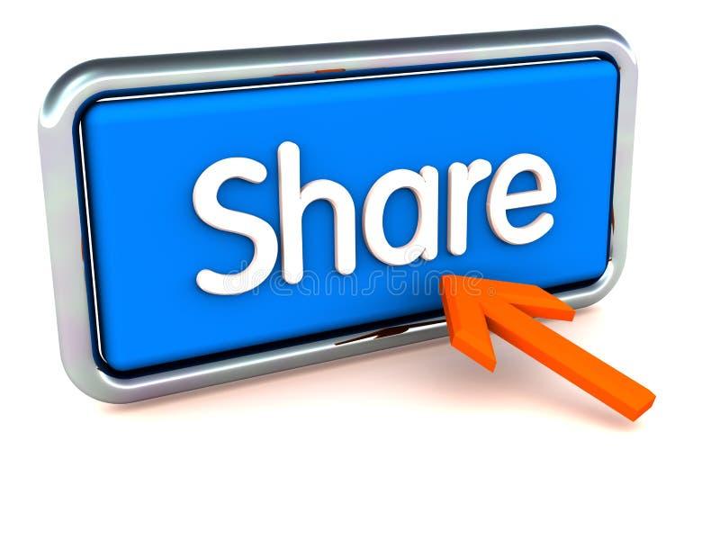 Het online concept van het aandeel stock illustratie