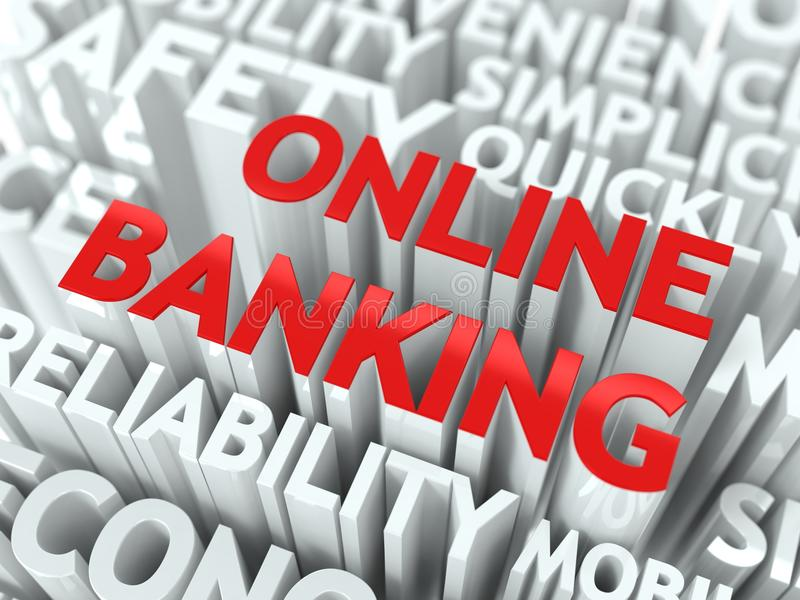 Het online Concept van het Bankwezen. stock illustratie