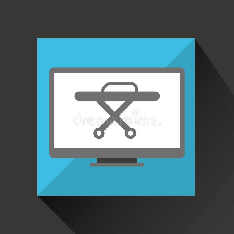 Het online medische ontwerp van de gezondheidsbrancard royalty-vrije illustratie