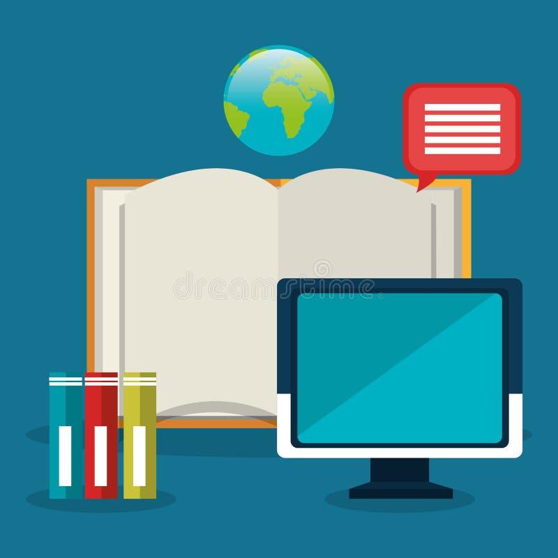 Het online onderwijs elearning stock illustratie