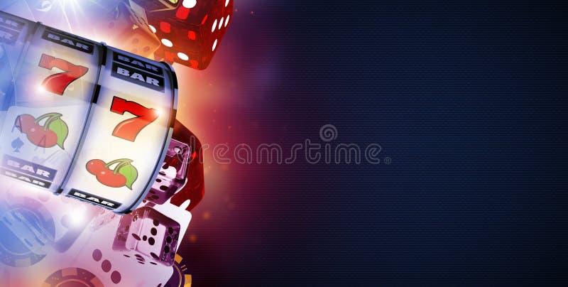 Het online Spel van het Casinospel vector illustratie