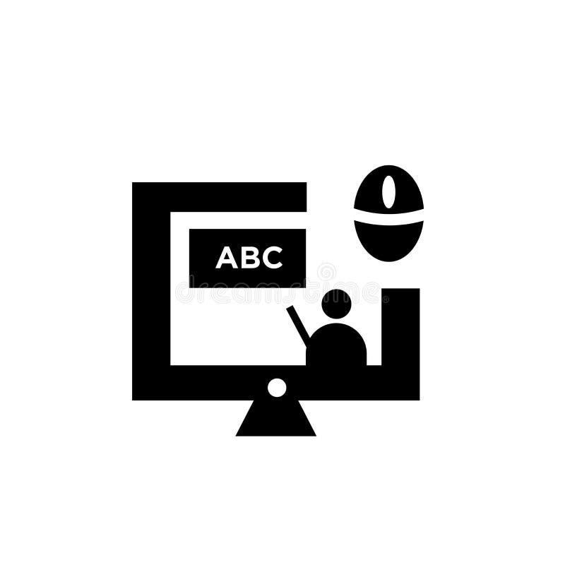 Het online teken en het symbool van het klassenpictogram vectordie op witte achtergrond, het Online concept van het klassenemblee vector illustratie