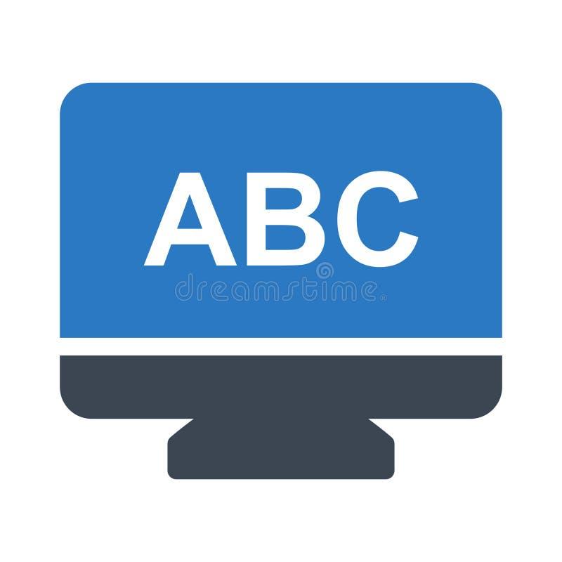 Het online vectorpictogram van de glyphkleur vector illustratie
