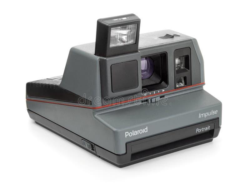 Het onmiddellijke Portret van de camera Polaroid- Impuls royalty-vrije stock foto