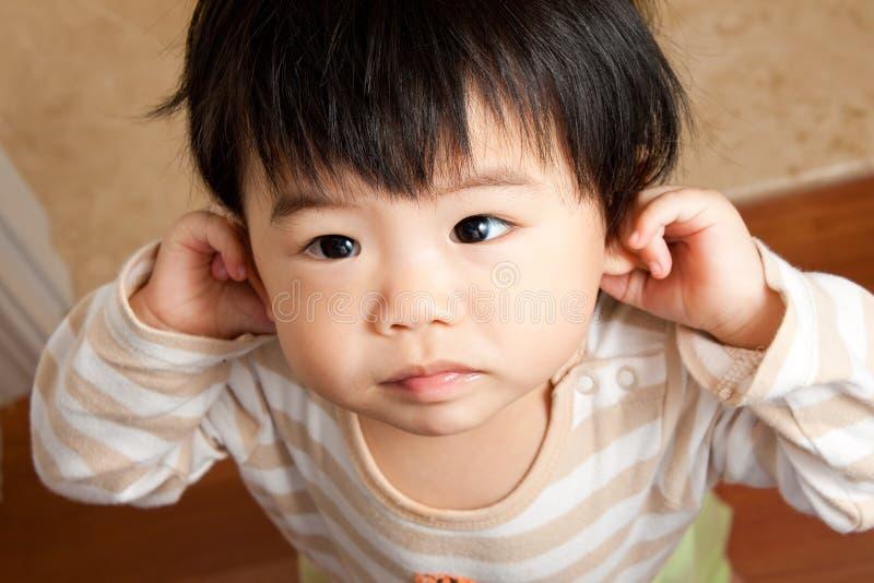 Het onschuldige Meisje van de Baby stock foto