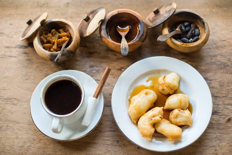 Het ontbijt Indonesië van koffiebali stock fotografie