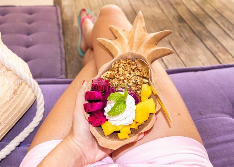 Het Ontbijt van Bali stock fotografie