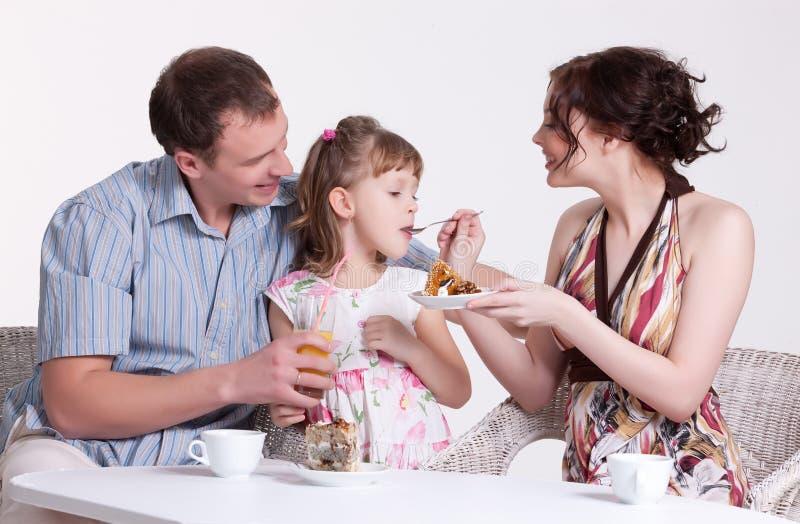 Het Ontbijt van de familie stock foto