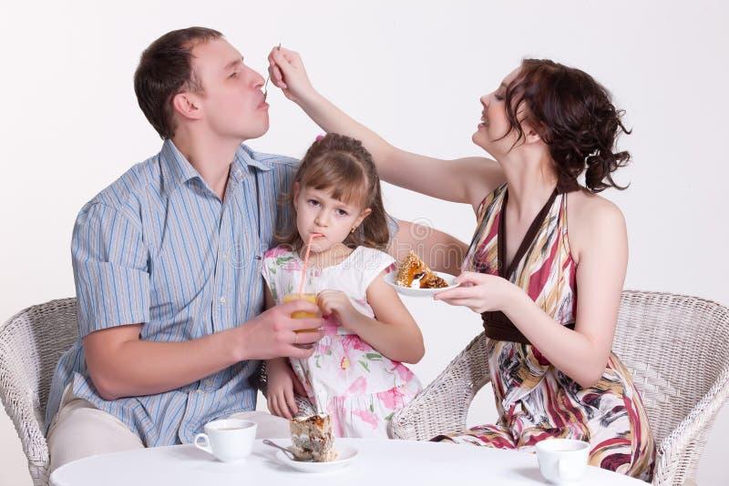 Het Ontbijt van de familie stock foto's