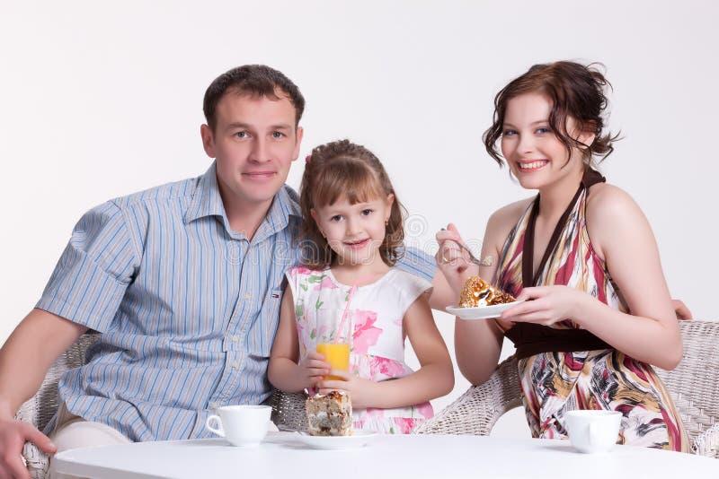 Het Ontbijt van de familie royalty-vrije stock afbeeldingen