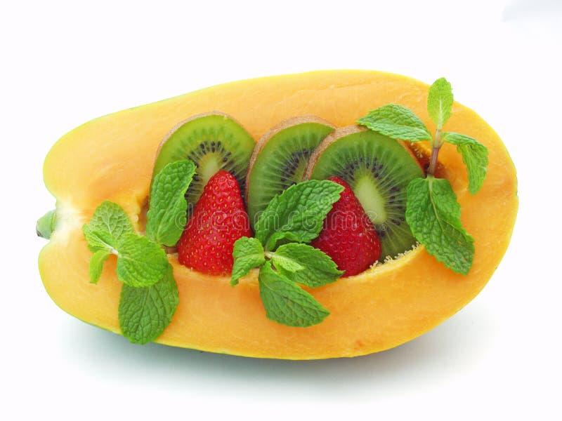 Het Ontbijt van de papaja royalty-vrije stock afbeeldingen