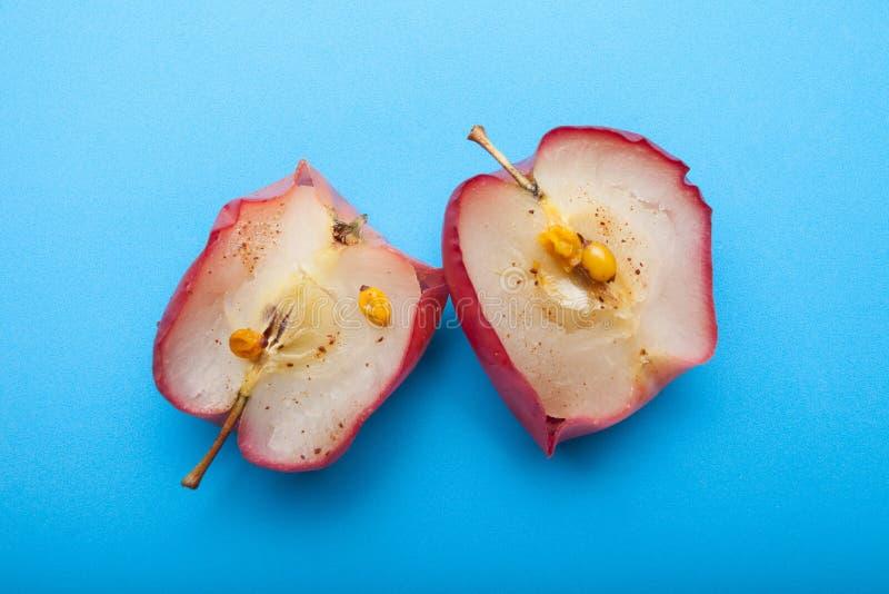 Het ontbijt van het de winterdieet van gebakken appelen royalty-vrije stock foto