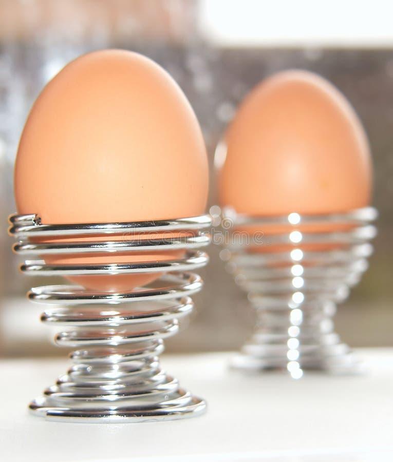 Het Ontbijt van eieren voor twee royalty-vrije stock afbeelding