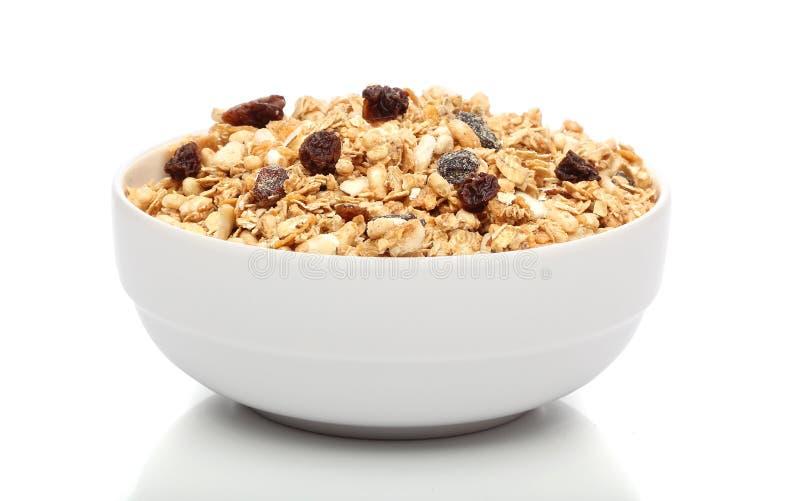 Het ontbijt van Granola op een kom royalty-vrije stock afbeelding
