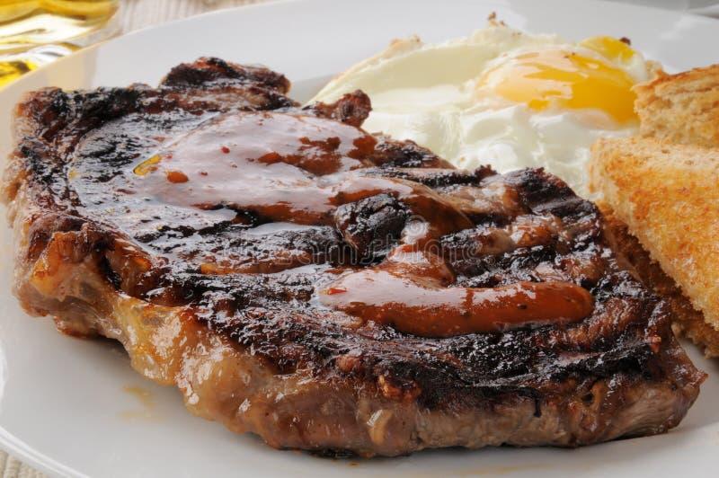Het ontbijt van het lapje vlees stock afbeeldingen