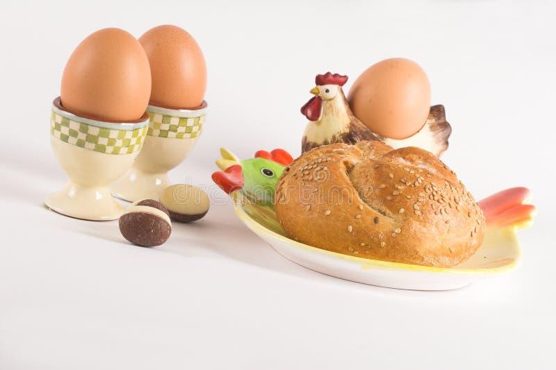 Het ontbijt van Pasen stock foto