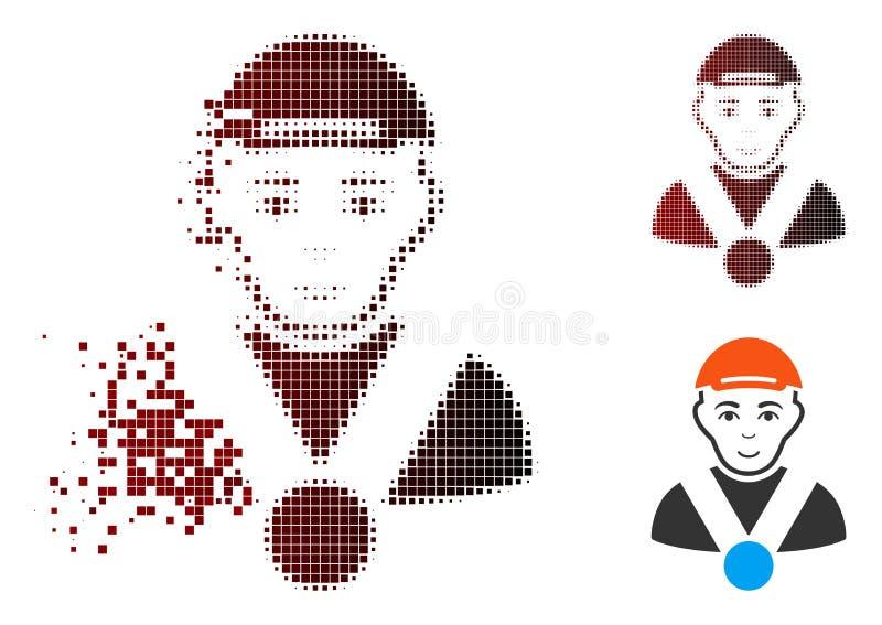 Het ontbonden Pictogram van de Pixel Halftone Kampioen vector illustratie