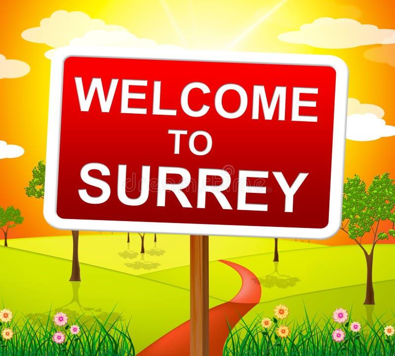 Het onthaal aan Surrey betekent het Verenigd Koninkrijk en Landschap royalty-vrije illustratie
