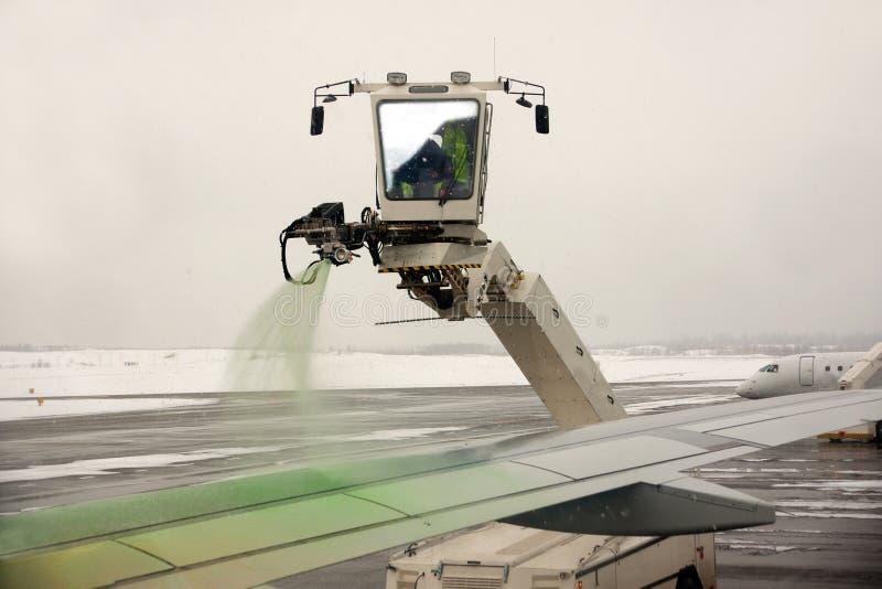 Het ontijzelen van vliegtuigen royalty-vrije stock foto's