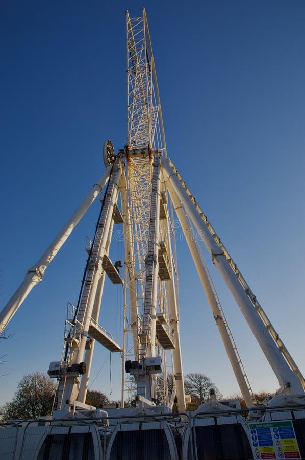 Het ontmantelen van Ferris Wheel stock foto's