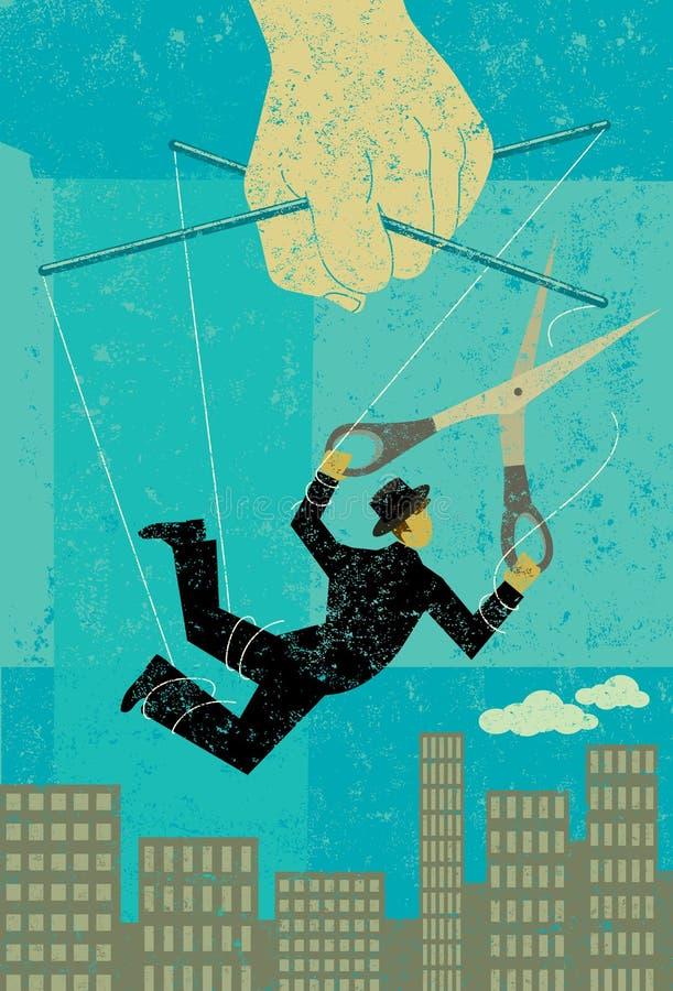 Het ontsnappen van een aan controlerende werkgever stock illustratie