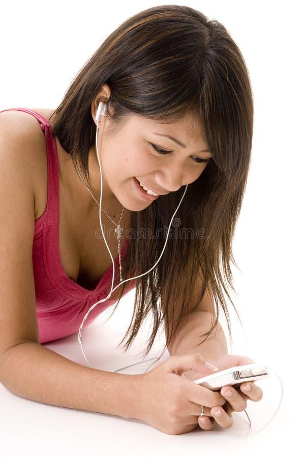 Het ontspannen met Muziek 5 stock foto's