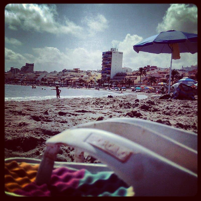 Het ontspannen op het Strand royalty-vrije stock foto