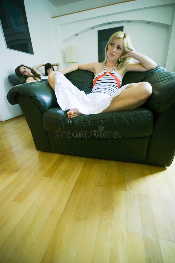Het ontspannen van meisjes royalty-vrije stock afbeeldingen