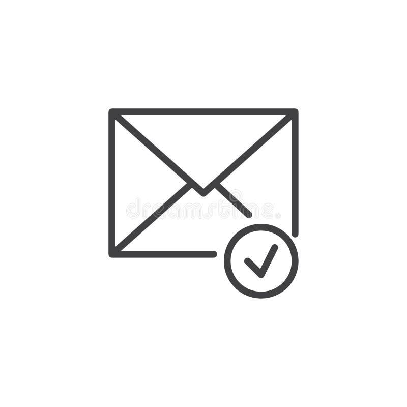 Het ontvangen pictogram van de berichtlijn royalty-vrije illustratie