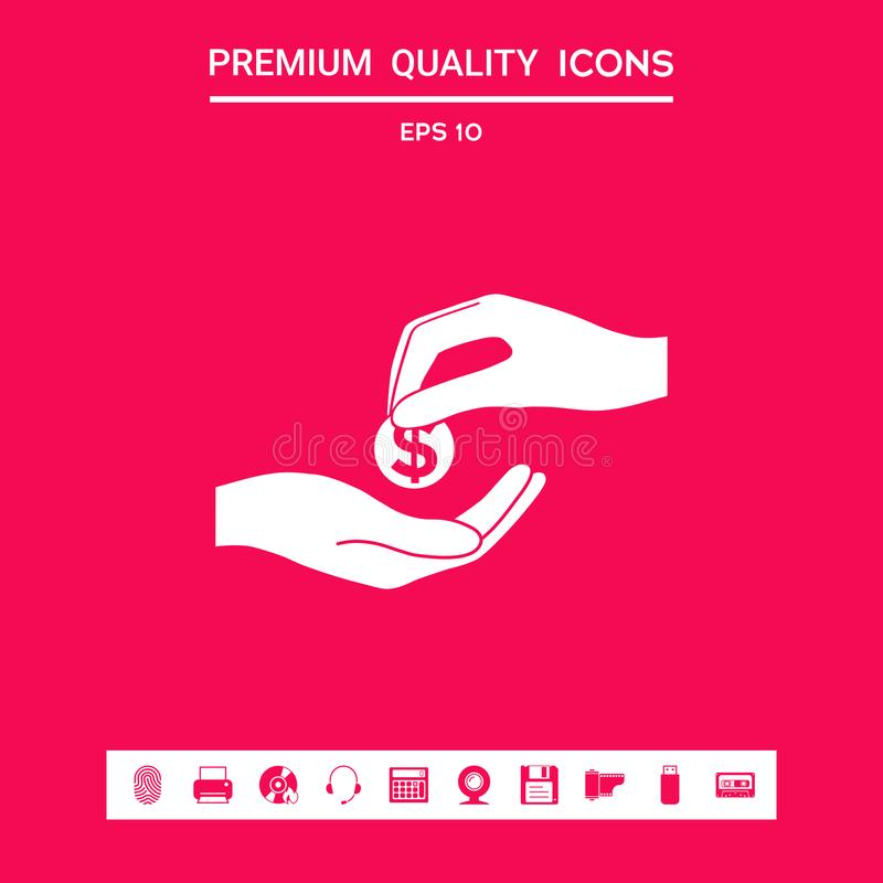 Het ontvangen van geldpictogram Grafische elementen voor uw ontwerp vector illustratie