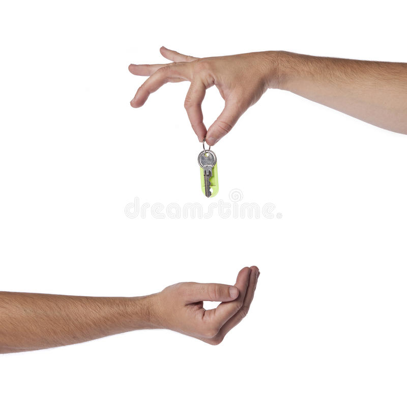 Het ontvangen van sleutels stock foto