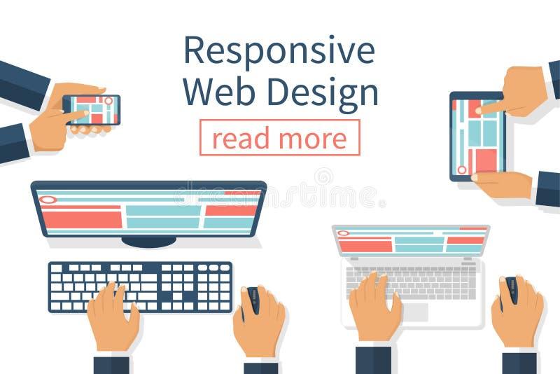 Het ontvankelijke Ontwerp van het Web vector illustratie