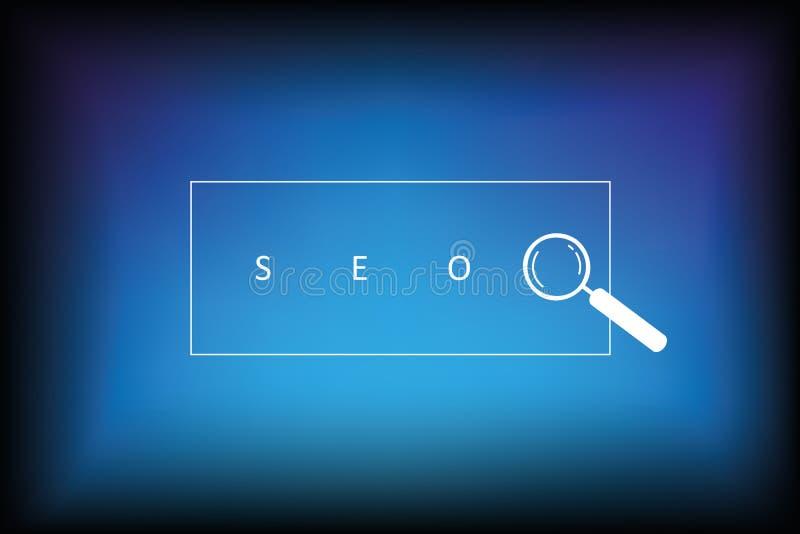 Het ontwerp blauwe achtergrond van het Seoonderzoek vector illustratie