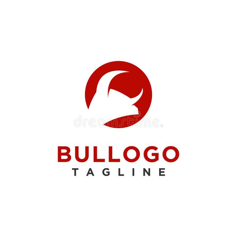 Het ontwerp eenvoudige minimalistische stijl van het stierenembleem voor zaken of bedrijfmerk vector illustratie
