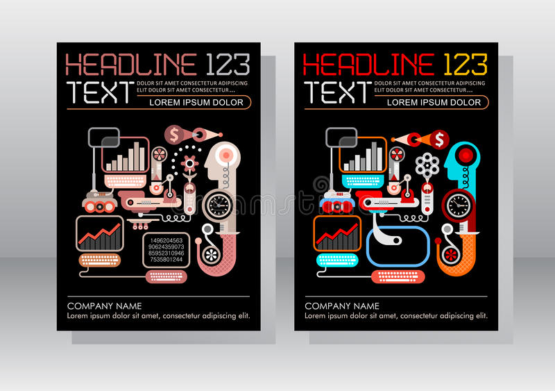 Het Ontwerp elektronische handel van het Bedrijfspamfletmalplaatje stock illustratie